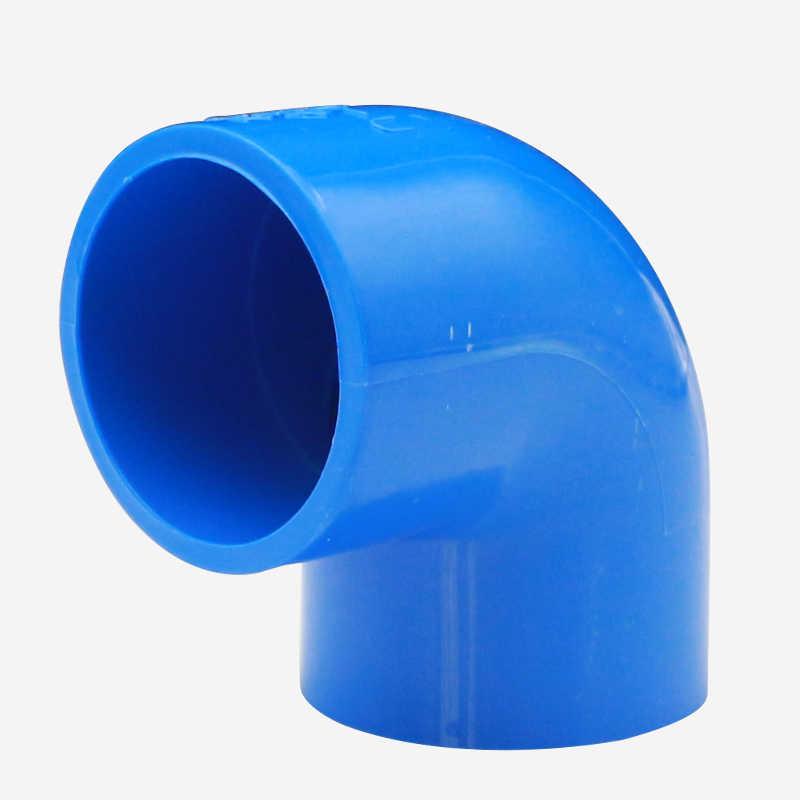 20mm 25mm 32mm 40mm 50mm מזהה כחול 90 תואר מרפק PVC צינור משותף צינור הולם מצמד מים מחבר עבור אקווריום דגי טנק
