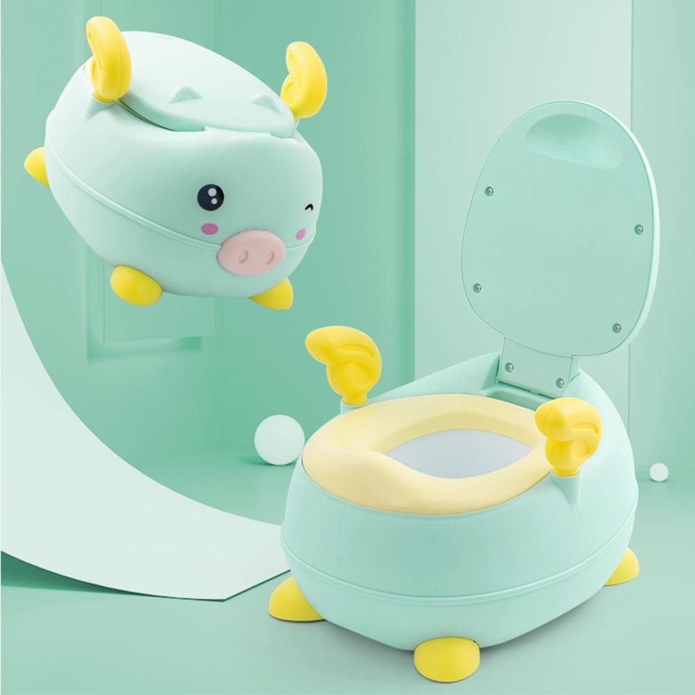 Children's Potty Boy Girls Baby Training Potty Seat Cartoon Piggy Shaped Toilet Portable Kids Toilet Cute Children Travel Pots