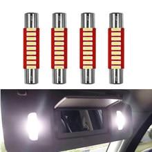 Nhautp 10 pces carro led sun visor vaidade espelho luzes 12v branco 28/29mm 31/32mm festão 4014 9-smd auto lâmpada de leitura interior