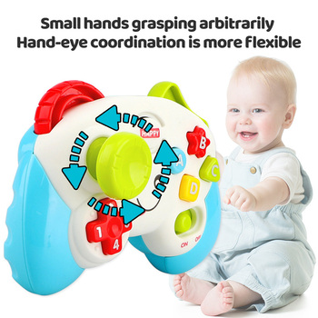 1 Pc Funny Vocal Toys Baby Multi-Function Electric Game Handle Children's Educational Toy Music Color Letter Learning Controller 1