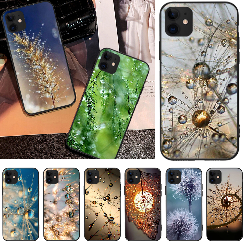 Drops of water after rain Newly Arrived Black Cell Phone Case For iPhone 5 6 6S 7 8 plus X XS XR XS MAX 11 11 pro 11 Pro Max