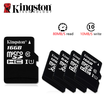 Kingston Microsd 8gb 16gb 32gb 64gb 128gb 256gb Memory Card Class 10 SDHC TF Card With Card Adapter/Reader for iphone&Laptop