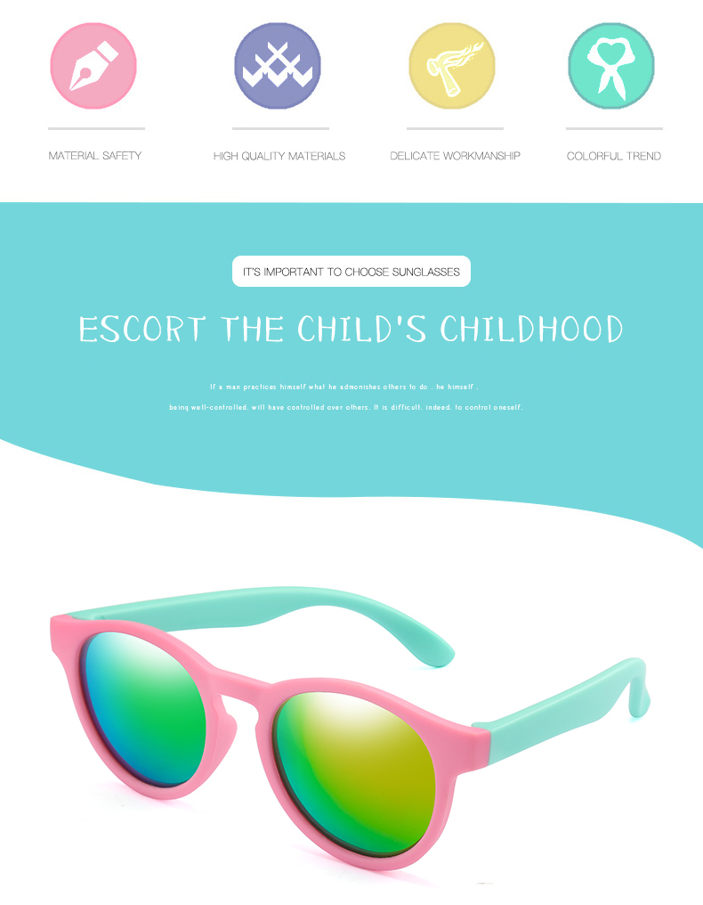 Hb80ce9e1d96340e49140253a56e01ef8r - WarBlade New Kids Polarized Sunglasses Round Children Sun Glasses Boys Girl Safety Glasses Baby Infant Shades Eyewear UV400