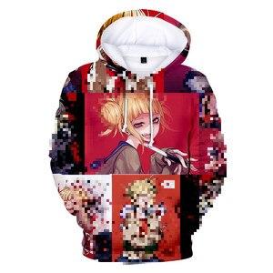 Image 2 - יפן אנימה 3D Ahegao נים סלעית נשים גברים מצחיק ביישן ילדה פנים סווטשירט הנטאי מנגה Streetwear Harajuku באיכות גבוהה חולצות