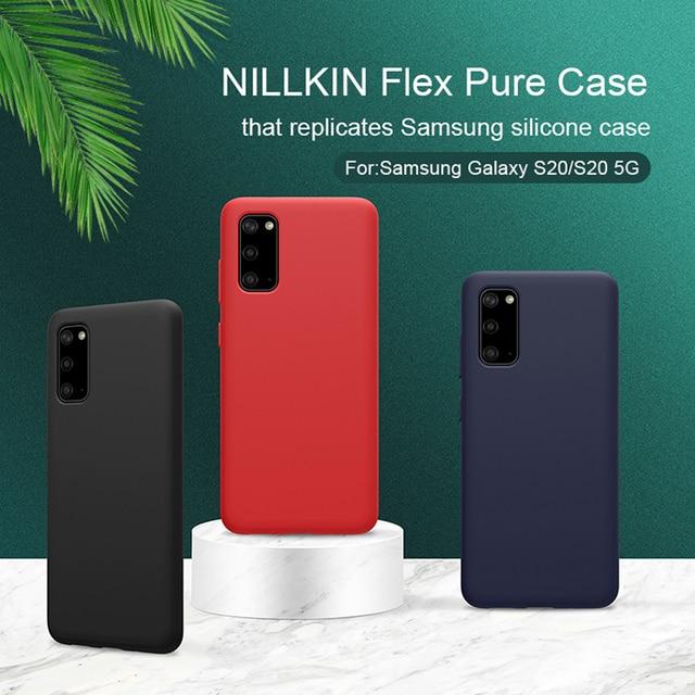 삼성 갤럭시 For Samsung Galaxy S20+ Plus 플러스 케이스 들어 Nillkin 럭셔리 플렉스 순수 실리콘 케이스 삼성 For Samsung S20 Ultra 5G  뒷면 커버 삼성 For Samsung S20들어