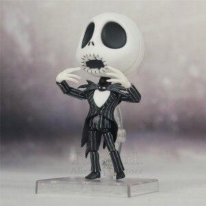 Image 5 - Le cauchemar avant noël Jack Skellington squelette 10cm mignon figurine avec casquette 1011 jouets poupée