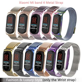 Wrist Strap For Xiaomi Mi Band 4 Strap for Xiaomi Mi Band 4 Bracelet Metal Screwless Stainless Steel Wriststrap For Xiaomi Mi 4 фото
