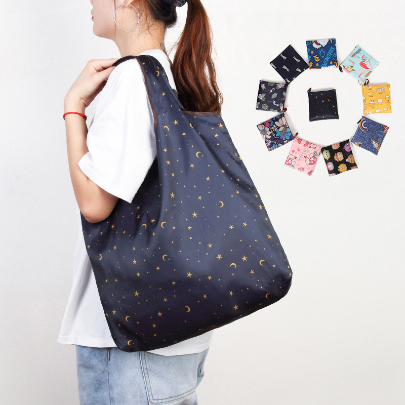 Reusable Eco-Friendly Grocery Foldable Shopping Bags Small Size Premium Quality Slight Duty Folding Tote Bag With Handle 1