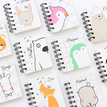 80 sheets Creative Stationery Cartoon Coil Ben Cute Animal Rollover Student Notepad Office Supplies Notebook Handbook 80 sheets cute cartoon pet notebook creative cat crocodile notepad kawaii christmas gift office school daily memos notebook