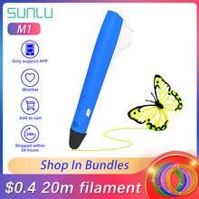 Профессиональная 3d ручка для печати m1 наполнитель pla pcl