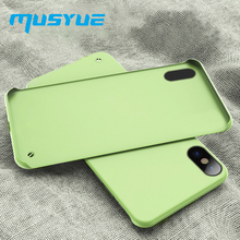 Musyue No Frame Case for iPhone XR 7 Xs Max 8 8 Plus 2019 Phone Cases Hard Plastic Smooth Matte Cover for iPhone X 6s Coque Capa цена