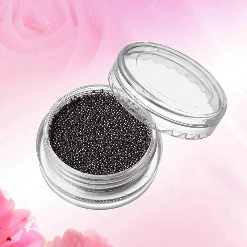 10G 0.6 Mm Mini Kecil Stainless Steel Manik-manik Kuku Seni Dekorasi Gun Grey Rose Gold Caviar DIY Alat Kuku kancing Aksesoris