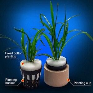 10 шт. аквариумные Цветочные растения для выращивания травы пластиковые корзины для аквариума декоративная посадка для аквариума