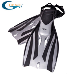 Silver Cool High Quality Open Heel Swimming Flipper TRP Non-slip Adjustable Diving Fins For Underwater Hunting  Man & Woman