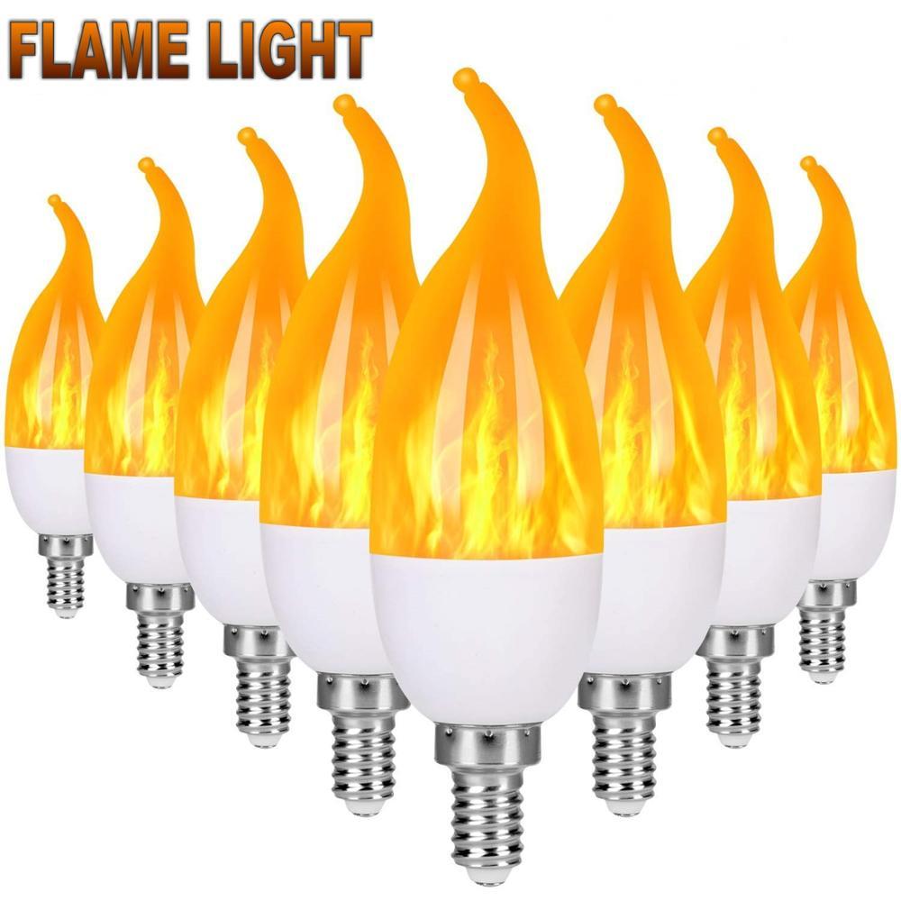 LED Candle Lamp 9W E27 E14 E12 Flame Bulb 85-265V LED Flame Effect Fire Light Bulbs Flickering Emulation Decor LED Lamp
