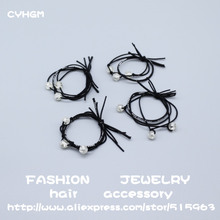 CYHGM girls black elastic hair bands decoration enfeite de cabelo infantil diadema satynowa gumka accessories brand G008