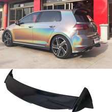 Roof Wing Aspec style for Golf7 MK7 MK7.5 Car Styling ABS Plastic Mater Rear lip Spoiler for Golf 7 2014 - UP abs car rear roof spoiler wing window lip for vw volkswagen golf 7 2014 2018 mk7 7 7 5 gti r bumper only