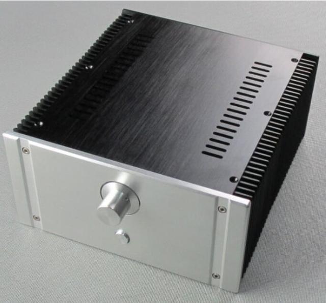 2412B מלא אלומיניום מארז מגבר כוח כיתת מקרה AMP מארז אודיו תיבה