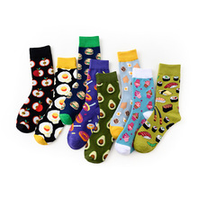Sock And Cotton No for Girls Hot Sox Spring Fruit Novel Happy Funny Food Colorful Autumn
