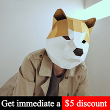 Paper-Model Head-Mask Papercraft Animal Origami Cosplay-Prop Low-Poly DIY 3D Adult Toy