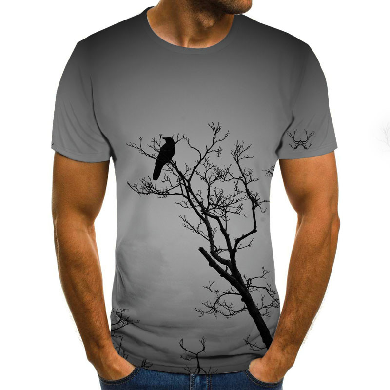 2020 New Men 3D T-shirt Casual Short Sleeve O-Neck Fashion Nature Printed T Shirt Men Tees
