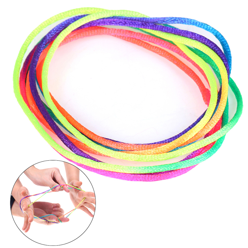 Rainbow Colour Fumble Finger Thread Rope String Game Developmental Toy Puzzle Educational Game For Children Kids