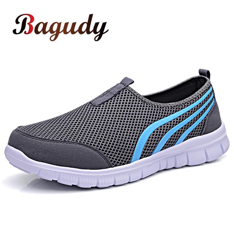 Summer Mesh Men Shoes Sneakers Breathable Flat Shoes Slip-on Sport Trainers Comfortable Lightweight Men Shoes Zapatillas Hombre 1