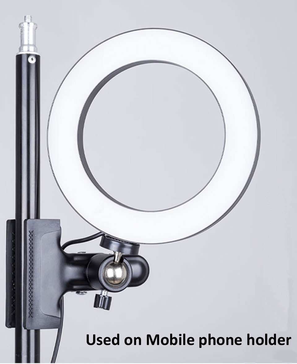 Hb80e730d171741a18d70943bafd094beH OUTMIX 26cm Protable Selfie Ring Light for Youtube Live Streaming Studio Video LED Dimmable Photography Lighting With USB Cable