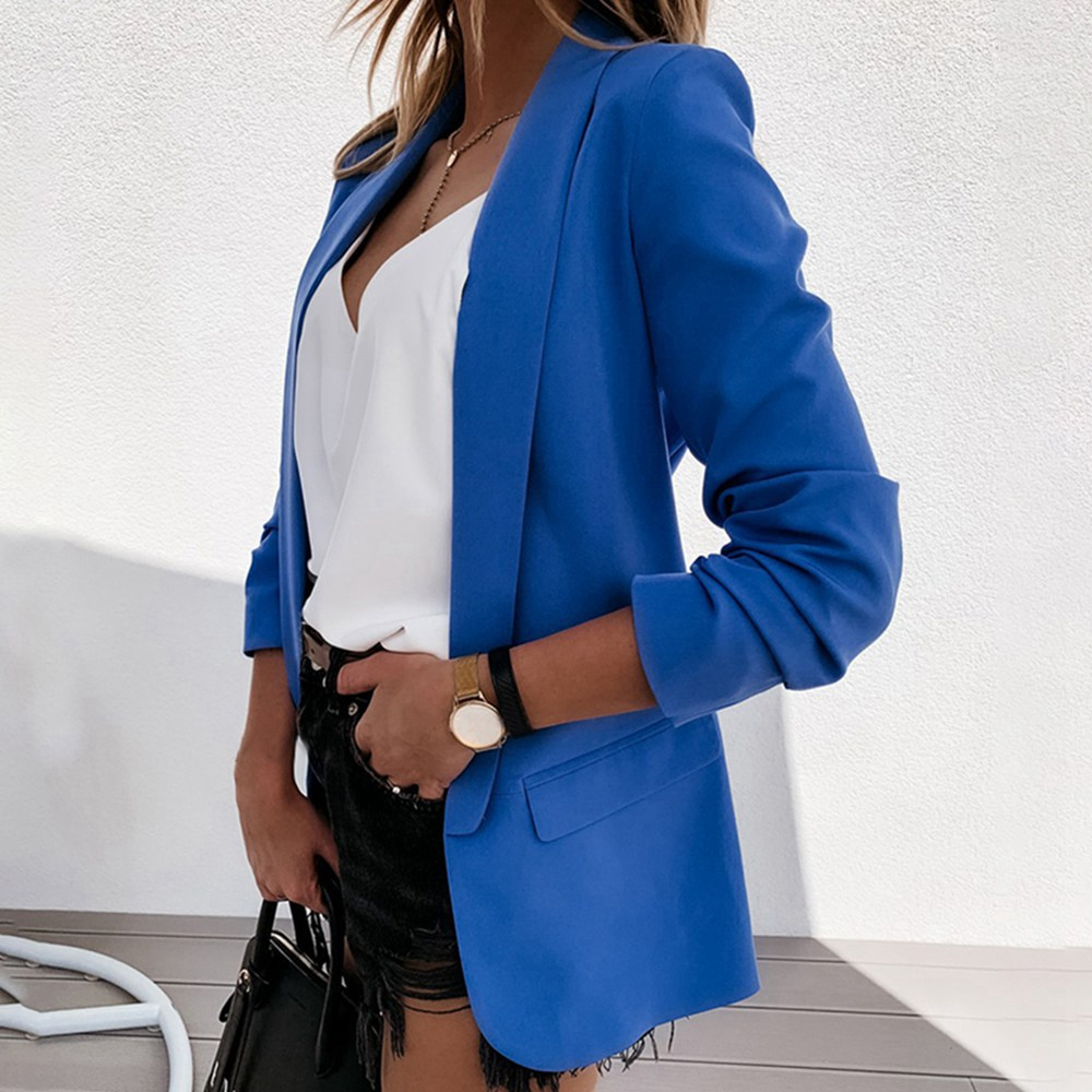 Autumn 2020 New Women's Suit Shawl Collar Office Women's Work Clothes Suit Coat Long Sleeve Regular Women's Jacket
