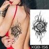 Sexy Tatu Temporary Tattoo Sticker Transferable Waterproof Black Rose Tattoo Waist Back Fake Tattoo Woman Girl 2021 Glitter Tato