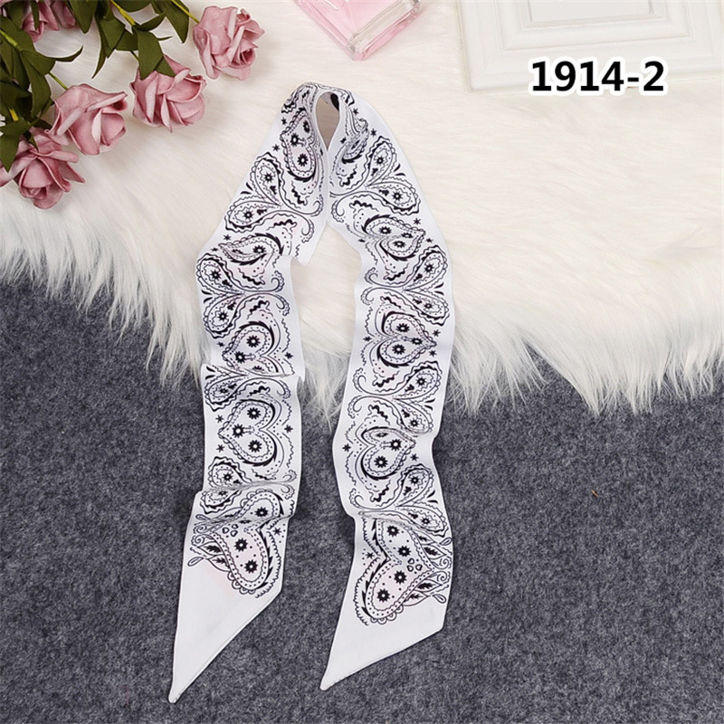 Heart Brand Scarf Women Skinny Bag Scarves 2020 New Design Silk Scarf For Ladies Foulard Wrist Towel Fashion Neckerchief