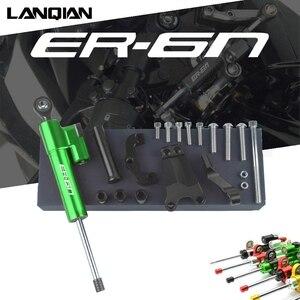Image 1 - For Kawasaki ER 6N Motorcycle Aluminum Steering Stabilize Damper & Bracket Mount ER 6N ER6N 2013 2014 2015 2016 Accessories