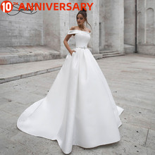 BAZIIINGAAA +Роскошь свадьба платье атлас без рукавов кардиган спинки свадебный свадьба платье поддержка на заказ