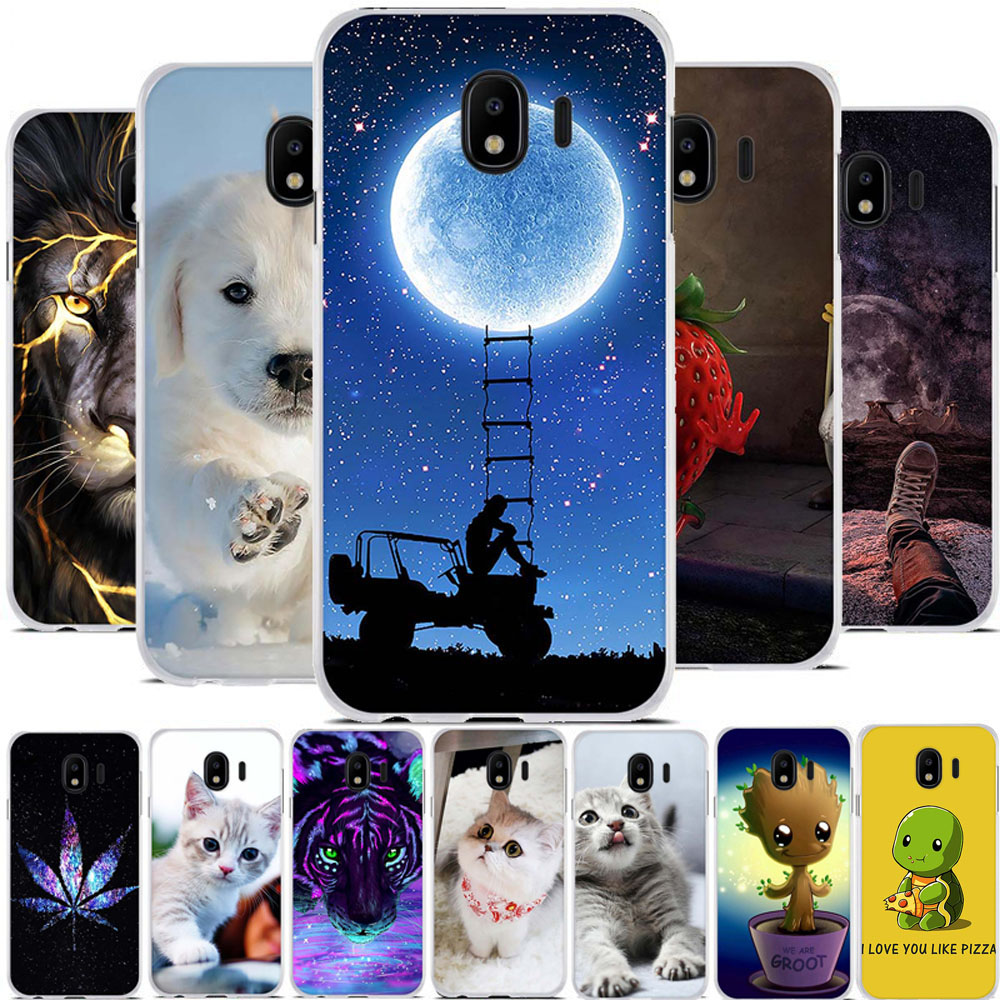 Housing Case For Samsung Galaxy J4 2018 Slim Silicone For Samsung Galaxy J4 J400 Back Bumper For Galaxy J4 J400F Case Cover