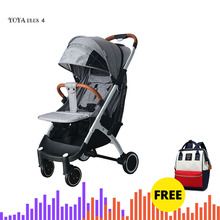 Yoya plus 4 Baby stoller Lightweight Yoya plus cart Portable Baby  trolley  baby car 5free gifts and mummy bag