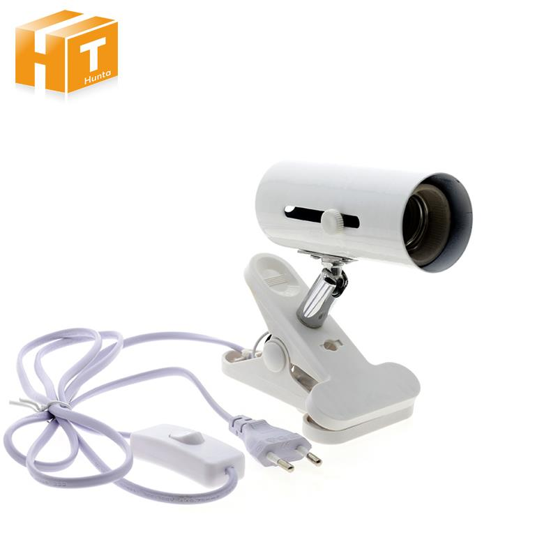 E27 Clip Lamp Holder Base With On Off Switch Flexible 180 Degrees For Spotlight Grow Lamp Bulb