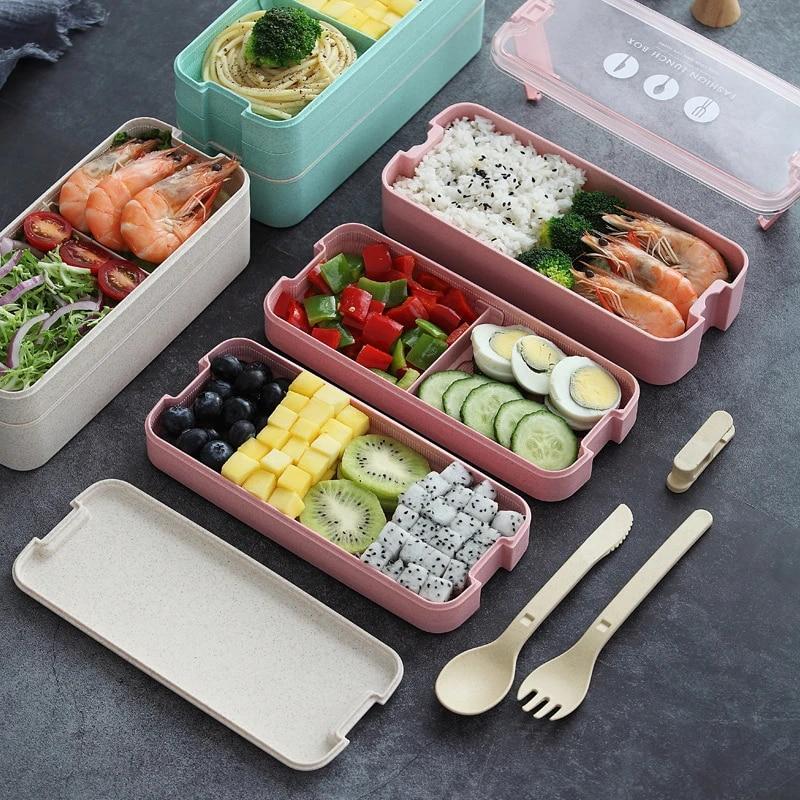 Lunch Box Food Health Lancheiras Storage Box Keuken Accessoires Contenitori Plastic For Bolsa Almuerzo Bento Caja De Almuerzo Lunch Boxes Aliexpress