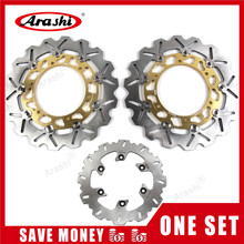 Arashi 1 Set TDM 900 2002 2010 CNC Front Rear Brake Disc Rotors For YAMAHA TDM900 2002 2003 2004 2005 2006 2007 2008 2009 2010