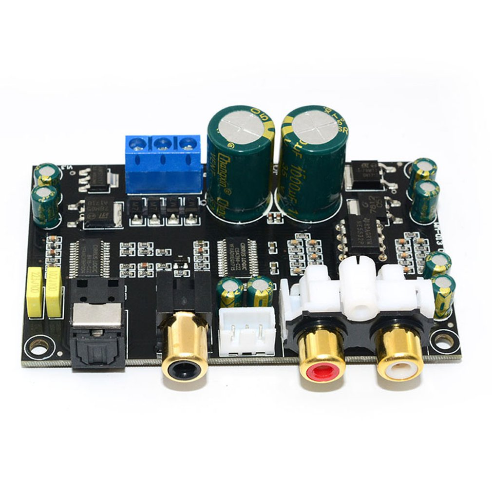 <font><b>Optical</b></font> Coaxial Audio Decoder Cirmech Cs8416 Cs4398 Chip 24bit192khz Spdif Coaxial Fiber Optic <font><b>Dac</b></font> Decoder <font><b>Board</b></font> for Amplifier image