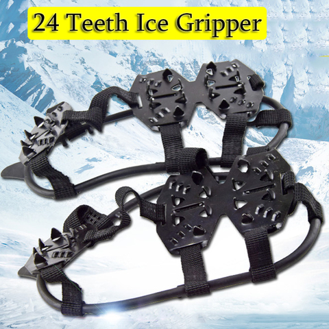 hot sale winter Ice Gripper For Shoes Women Men Non-slip Crampons Ice Gripper Spike Grips Cleats For Ice Snow Climbing Pakistan