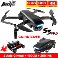 FEMA S3 Pro GPS Drone Mit Kamera 4k HD 5G WiFi eders Bürstenlosen FPV drone 25 minuten Lange abstand 1km professionelle quadcopter