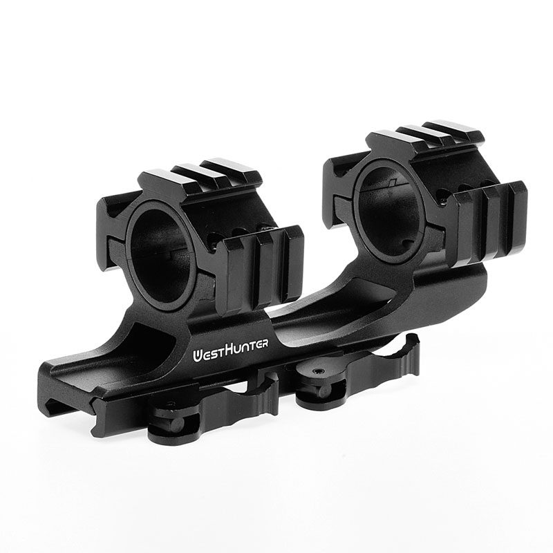 Quick Release One Piece Scope Mount 25.4mm/30mm Dual Rings Cantilever Weaver Picatinny QD Mount Ar15 Ak 47 Bracket For Hunting