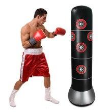 Надувная боксерская сумка для фитнеса, боксерская подставка, водная база, тренировочная рельефная мишень для подростков и взрослых