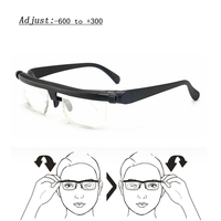 Vision Reading Glasses magnifier Spectacles Myopia Presbyopia Optical Glasses for Sight Adjust Focal Length -6 to + 3 Eyeglasses