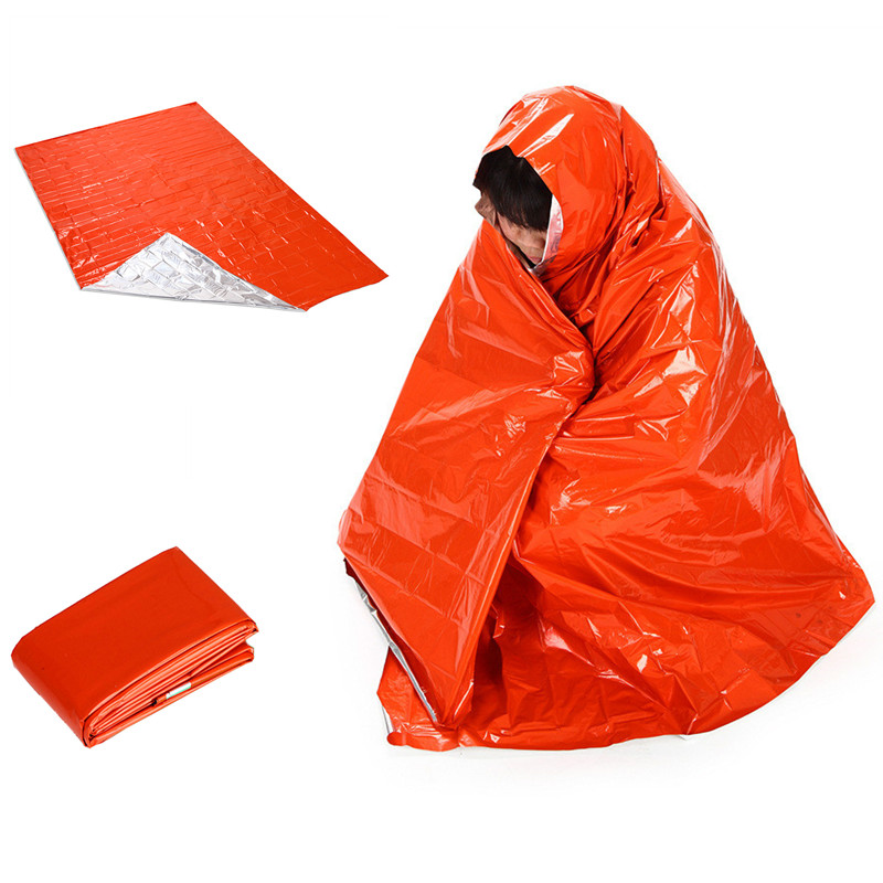 210*130cm Outdoor Camping Emergency Survival Rescue Blanket Foil Thermal Space First Aid Gold Rescue Curtain Military Blanket