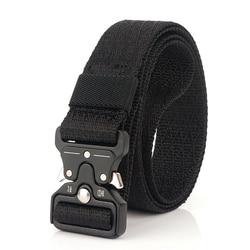 Fashion Belts For Men 3.2CM Width Durable Nylon Tactical Designer Men's Belts For Jeans Pants Metal Buckle Canvas Work Belt New