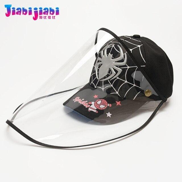 Scherza il Cappello Maschera Del Bambino del Ragazzo di Protezione Anti-Virus Sputare Viso Scudo Maschera Moda Protetor Viso Visiera Di Plastica Cap 1-3 vecchio 2