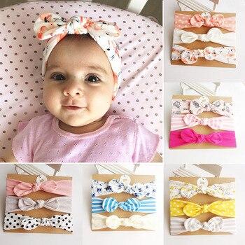3Pcs Rabbit Ear Baby Headband For Girls Flower Neonata Baby Bows Turban Haarband Hair Accessories Newborn Infant Girl Headband