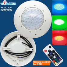 Ip68 Led Swimming Pool Light 24W 36W Led Waterproof UnderWater Light AC/DC 12V Pond Lights RGB Led Piscina Luz Spotlight