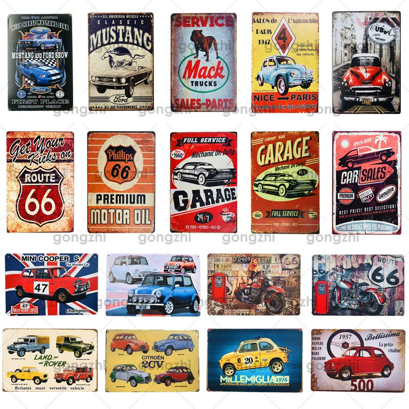 Motor Oil Metal Tin Sign Route 66 Motor Car Motor Vintage Retro Plaque Wall Art Poster Bar Club Garage Decoration Iron Painting